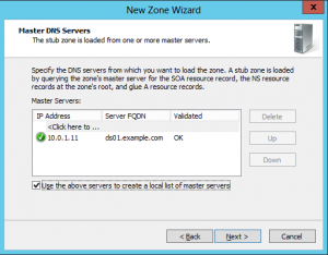 New Domain Wizard - 05 - Master Servers